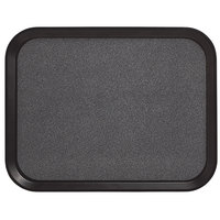 Cambro 1418VC382 18 inch x 14 inch Black Customizable Non-Skid Versa Camtray - 12/Case