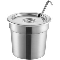 Vollrath 7.25 Qt. Stainless Steel Inset Kit with Cover and 4 oz. Ladle