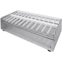 Heat Seal PS-12 Aluminum Label Dispenser - 12 Roll Capacity