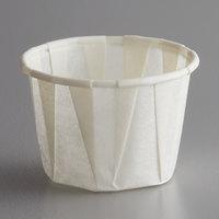 Genpak F100 Harvest Paper 1 oz. Compostable Souffle / Portion Cup - 250/Pack