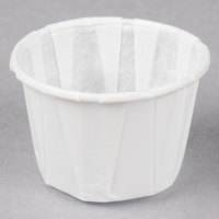 Genpak F100 Harvest Paper 1 oz. Compostable Souffle / Portion Cup - 250/Pack