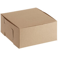 Baker's Mark 6 inch x 6 inch x 3 inch Kraft Pie / Bakery Box - 10/Pack