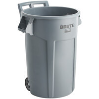 Rubbermaid 2131929 BRUTE 44 Gallon Gray Wheeled Round Trash Can