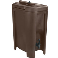 Carlisle XB501 Cateraide Slide N' Seal Brown 5 Gallon Insulated Beverage Dispenser