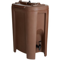 Carlisle XB501 Cateraide™ Slide N' Seal™ 5 Gallon Brown Insulated Beverage Dispenser