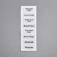 Baker's Mark Ingredient Bin Labels for Bakery Ingredients