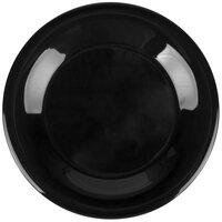 Carlisle Durus 4301203 9 inch Black Wide Rim Melamine Dinner Plate - 24/Case
