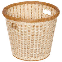 GET WB-1522-TT Designer Polyweave 14 inch x 13 inch Two-Tone Round Plastic Basket - 6/Pack