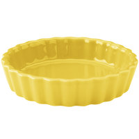 Hall China 30863320 Sunflower 5 oz. Colorations Round Fluted Souffle / Creme Brulee Dish - 24/Case