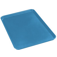 Carlisle 2618FMTQ306 Caribbean Blue 18 inch x 26 inch x 1 inch Fiberglass Market Tray - 6/Case