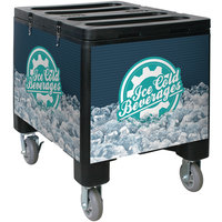 IRP 3101491 Black Ice Caddy 200 lb. Mobile Ice Bin / Beverage Merchandiser