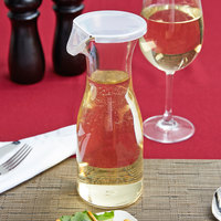 GET BW-1050-CL 17 oz. Customizable Polycarbonate Wine / Juice Decanter with Lid