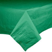 Hoffmaster 220629 54 inch x 108 inch Cellutex Jade Green Tissue / Poly Paper Table Cover - 25/Case