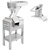 Robot Coupe CL60 2-Speed 2 Feed-Heads Continuous Feed Food Processor with Full Moon Pusher Feed & Bulk Feed - 240V, 3 Phase, 3 hp