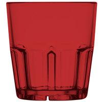 GET 9909-1-R Bahama 9 oz. Red Break-Resistant Customizable Plastic Tumbler - 72/Case