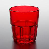GET 9909-1-R Bahama 9 oz. Red Customizable SAN Plastic Tumbler - 72/Case