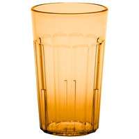 Cambro NT10153 Newport 10 oz. Amber Customizable SAN Plastic Tumbler - 36/Case