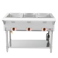 APW Wyott SST3S Stationary Steam Table - Three Pan - Sealed Well, 208V