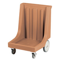 Cambro CD1826HB157 Coffee Beige Camdolly with Rear Easy Wheels for 18 inch x 26 inch Trays - 80 Tray Capacity
