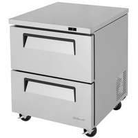 Turbo Air TUF-28SD-D2 Super Deluxe 28 inch Undercounter Freezer with Two Drawers