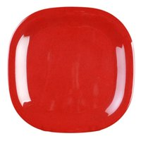 Thunder Group PS3010RD Passion Red 10 3/4 inch Round Square Plate - 12/Pack