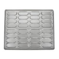 Chicago Metallic 42465 32 Mold Glazed Customizable Clustered Hot Dog Bun Pan