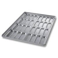 Chicago Metallic 42465 32 Mold Glazed Clustered Hot Dog Bun Pan