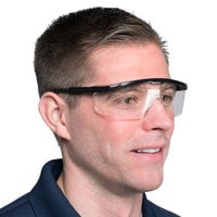 Scratch Resistant Safety Glasses / Eye Protection - Black with Clear Lens
