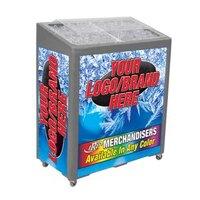 Gray SS Freeze Jr. 2080 Mobile 90 qt. Cooler Merchandiser
