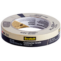 3M Scotch 15/16 inch x 60 Yards Contractor Grade Masking Tape 2020-24AP
