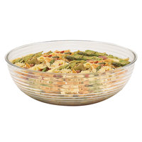 Cambro RSB12CW135 5.8 Qt. Clear Camwear Round Ribbed Bowl