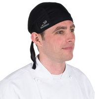 Headsweats 8800-802 Black Eventure Fabric Adjustable Chef Bandana / Do Rag