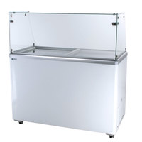 Excellence EDC-8 48 inch Straight Glass Ice Cream Dipping Cabinet