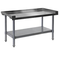 APW Wyott HDS-72L 72 inch x 30 inch Heavy Duty Cookline Equipment Stand with Galvanized Undershelf