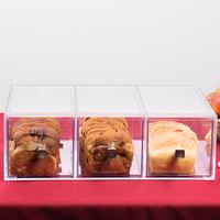 Cal-Mil 1479 Eco Modern Three Drawer Acrylic Bread Box for 1471 Merchandiser and 1478 Bin