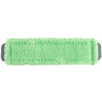 Unger MM400 SmartColor MicroMop 15.0 16 inch Green Wet / Dry Mop Pad