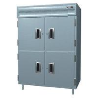 Delfield SMR2S-SLSH 38 Cu. Ft. Two Section Shallow Sliding Solid Half Door Reach In Refrigerator - Specification Line