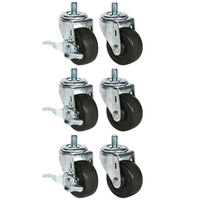 Beverage-Air 61C01-012A 3 inch Replacement Casters for DP119, UCR119A and WTR119A - 6/Set