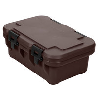 Cambro UPCS160131 Dark Brown S-Series Ultra Food Pan Carrier Insulated Top Loading