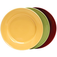 Tuxton DYA-074 DuraTux 7 1/2 inch Assorted Colors China Plate - 36/Case