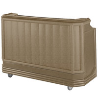 Cambro BAR730PM194 Granite Sand Cambar 73 inch Post-Mix Portable Bar with 7 Bottle Speed Rail, Cold Plate, and Soda Gun