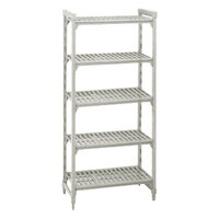 Cambro Camshelving Premium CPU244284V5PKG Shelving Unit with 5 Vented Shelves 24 inch x 42 inch x 84 inch