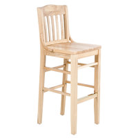 Lancaster Table & Seating Natural School House Bar Height Chair