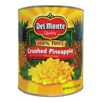 Del Monte #10 Can Coarse Crushed Pineapple in Juice   - 6/Case