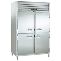 Traulsen RDT232NUT-HHS Stainless Steel 38.5 Cu. Ft. Two Section Half Door Narrow Reach In Refrigerator / Freezer - Specification Line