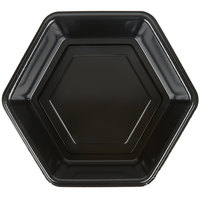 Genpak HX019-3L Smart-Set 9 inch Black Hexagonal Deep Foam Serving Tray - 200/Case