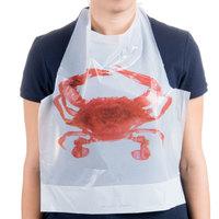 Royal Paper PB24 Disposable Poly Crab Bib - 500/Box