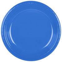 Creative Converting 28145031B 10 1/4 inch True Blue Plastic Plate - 600 / Case