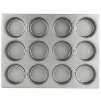 Chicago Metallic 44215 12 Cup Glazed Oversized Customizable Mini-Cake Muffin Pan - 15 1/2 inch x 20 1/2 inch