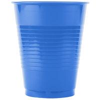 Creative Converting 28145081B 16 oz. True Blue Plastic Cup - 50/Pack